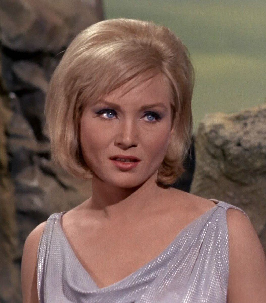 Susan Oliver plays Vina, a young woman injured in a crash on Talos IV