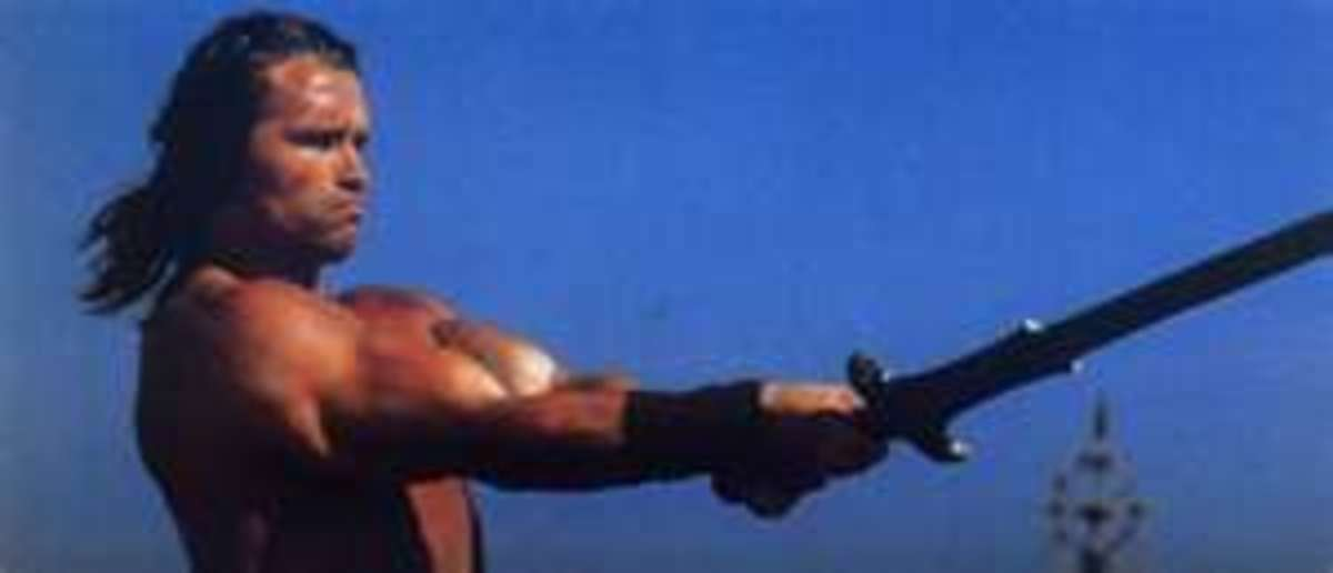 """Arnold Schwarzenegger as """"Conan""""         (This pic from """"Conan, the Barbarian"""", 1982)"""