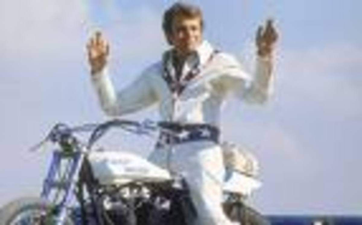 """I would always rather be in the arena fighting than be a spectator."" - Legendary Daredevil Evel Knievel"