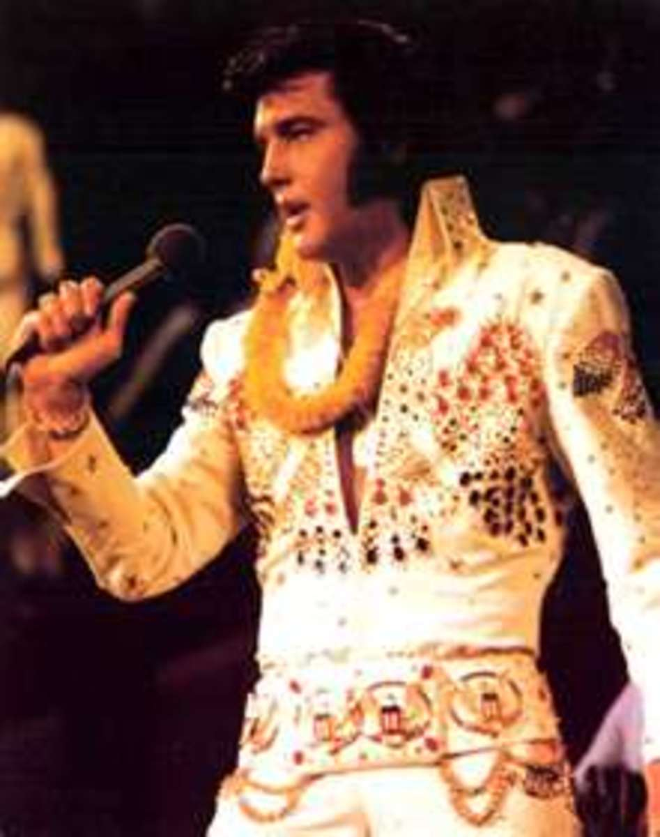 "Elvis Presley, January 1973: ""Aloha from Hawaii"" concert was the world's first live concert satellite broadcast."
