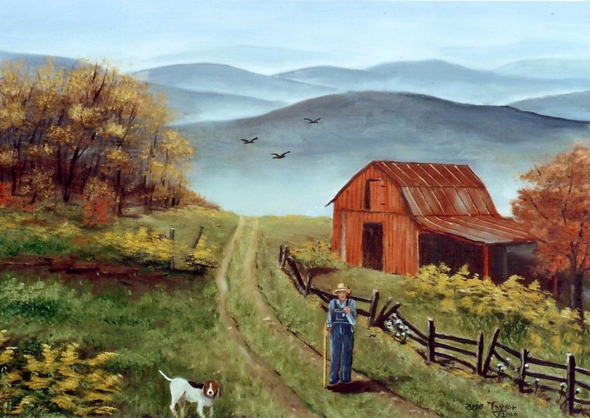 the-old-man-in-the-red-wooden-barn