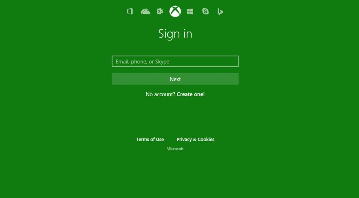 "Enter the email address associated with your Xbox Live account, and then click the green ""Next"" button."