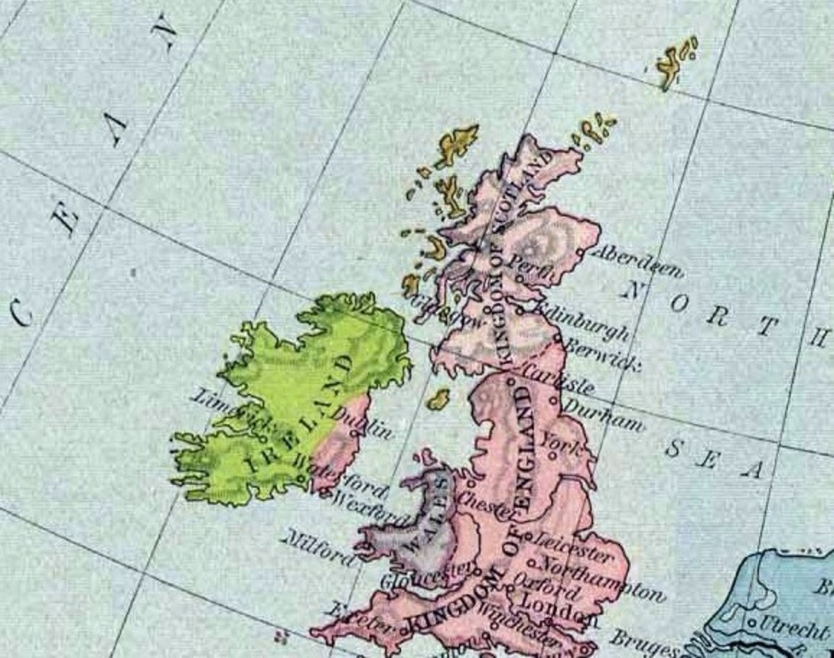This 1190 map shows how the boundaries had shifted between England and Scotland.