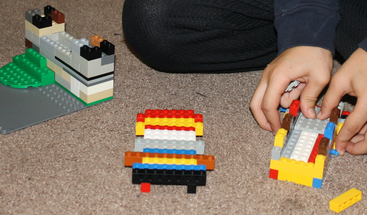 Using Legos to create parts of the Great Wall of China