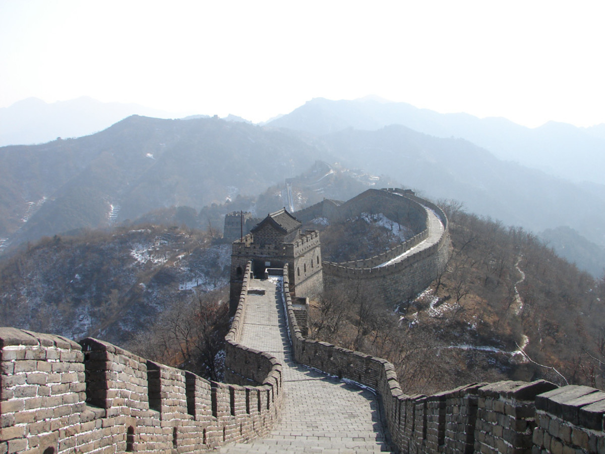 A part of the Mutianyu section of the Great Wall of China