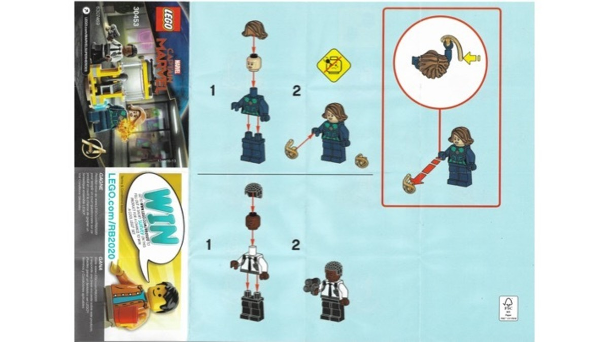 LEGO Captain Marvel and Nick Fury Polybag 30453 Minifigure Instructions