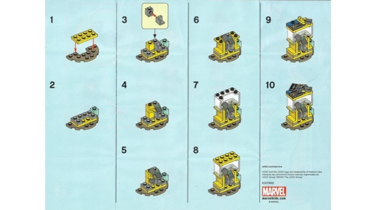 LEGO Captain Marvel and Nick Fury Polybag 30453 Phone Booth Instructions