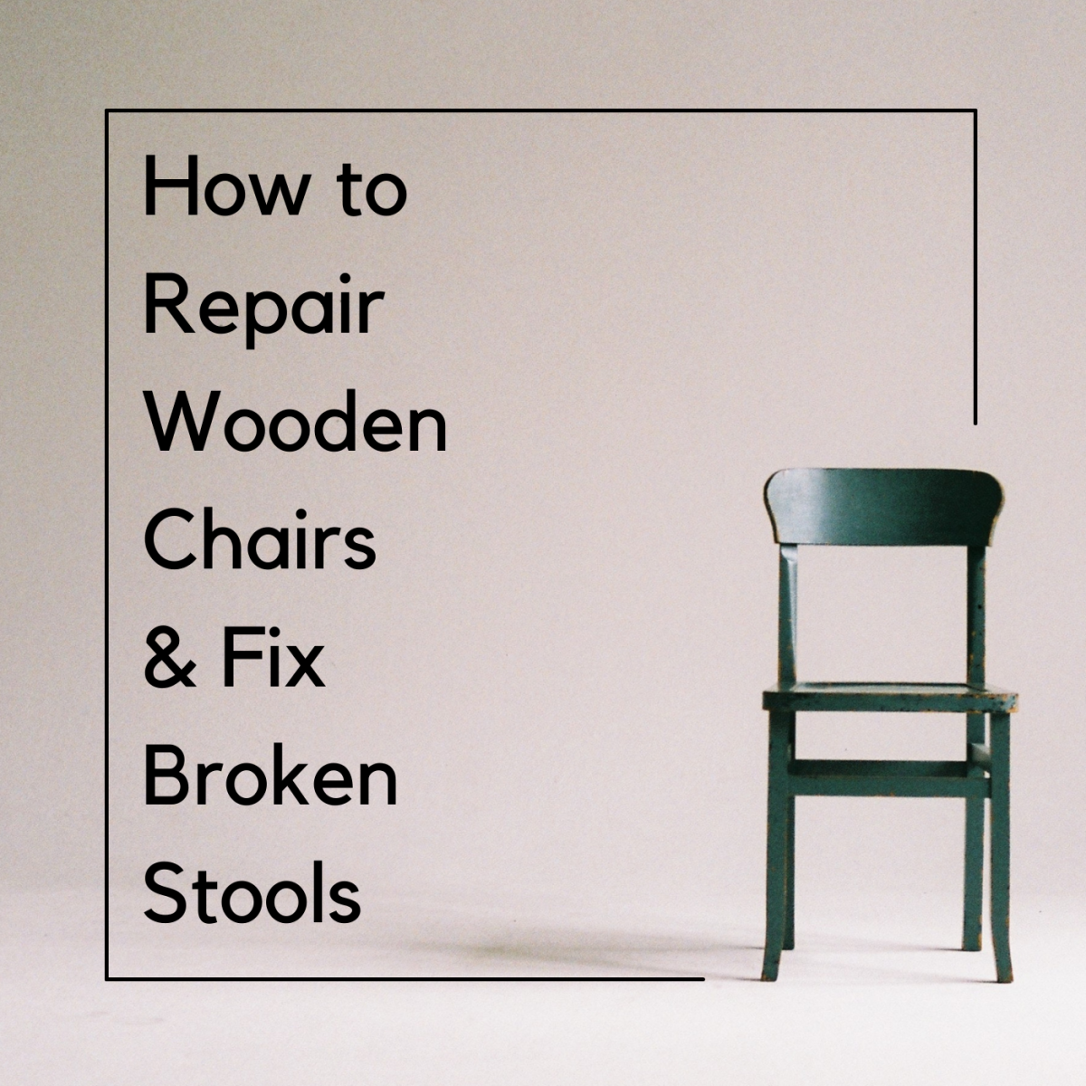 Learn how to repair standard wooden chairs and stools.