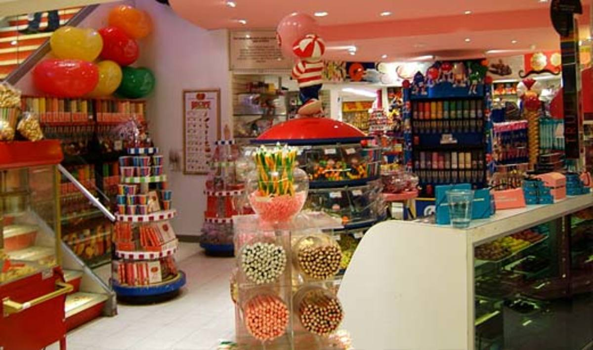 One of the many sections of Dylan's Candy Bar in New York