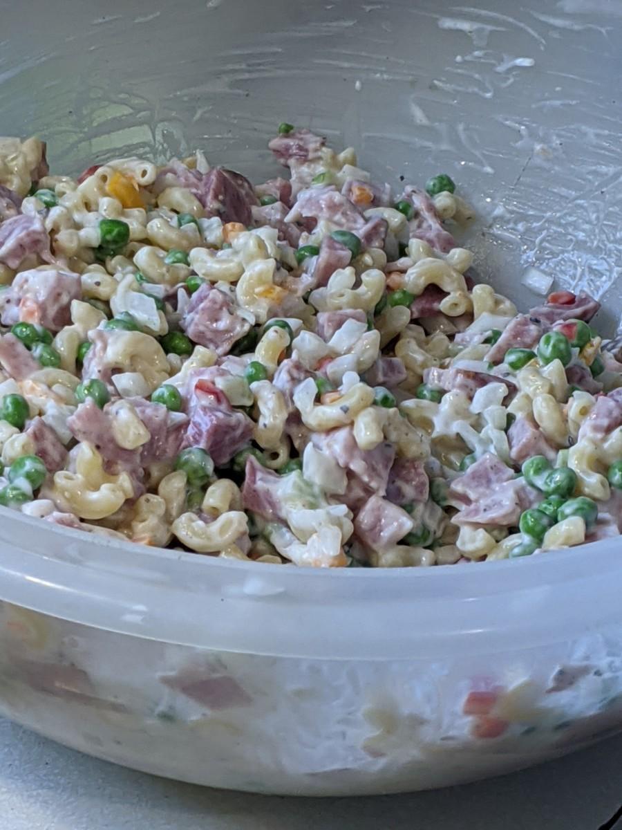 ham-macaroni-and-pea-salad