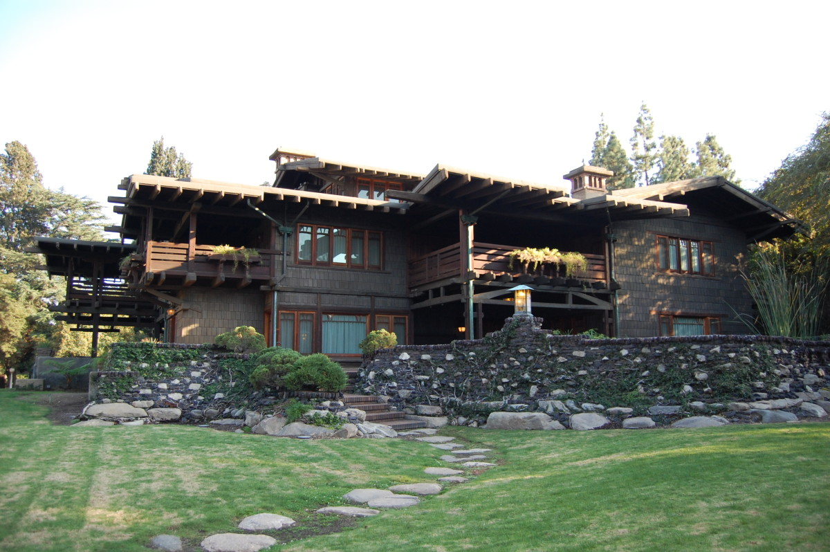 """Gamble House--view showing the fabulous """"sleeping porches"""" thought to be essential for health"""