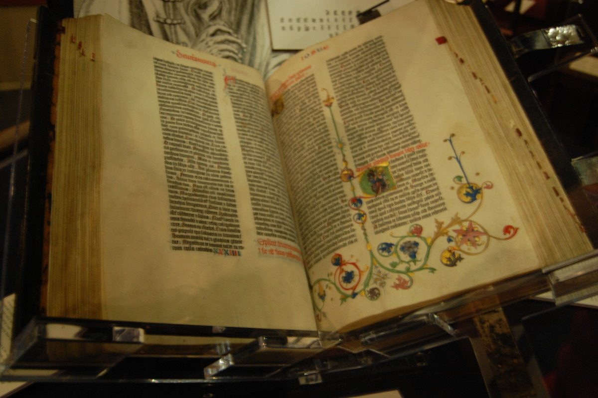 Huntington's copy was purchased in 1911 for $50,000--There are only four complete Gutenberg Bibles on vellum in existence