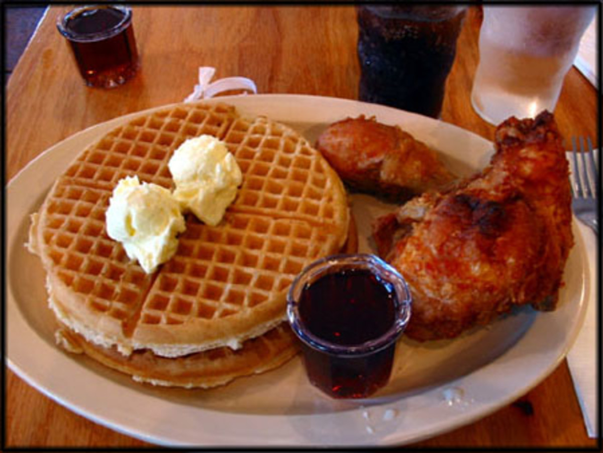 What? Doesn't everyone have waffles with their fried chicken?