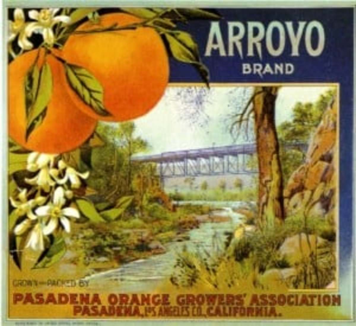 Whoever designed this earlier bridge over the Arroyo certainly didn't know Beaux Arts like Waddell