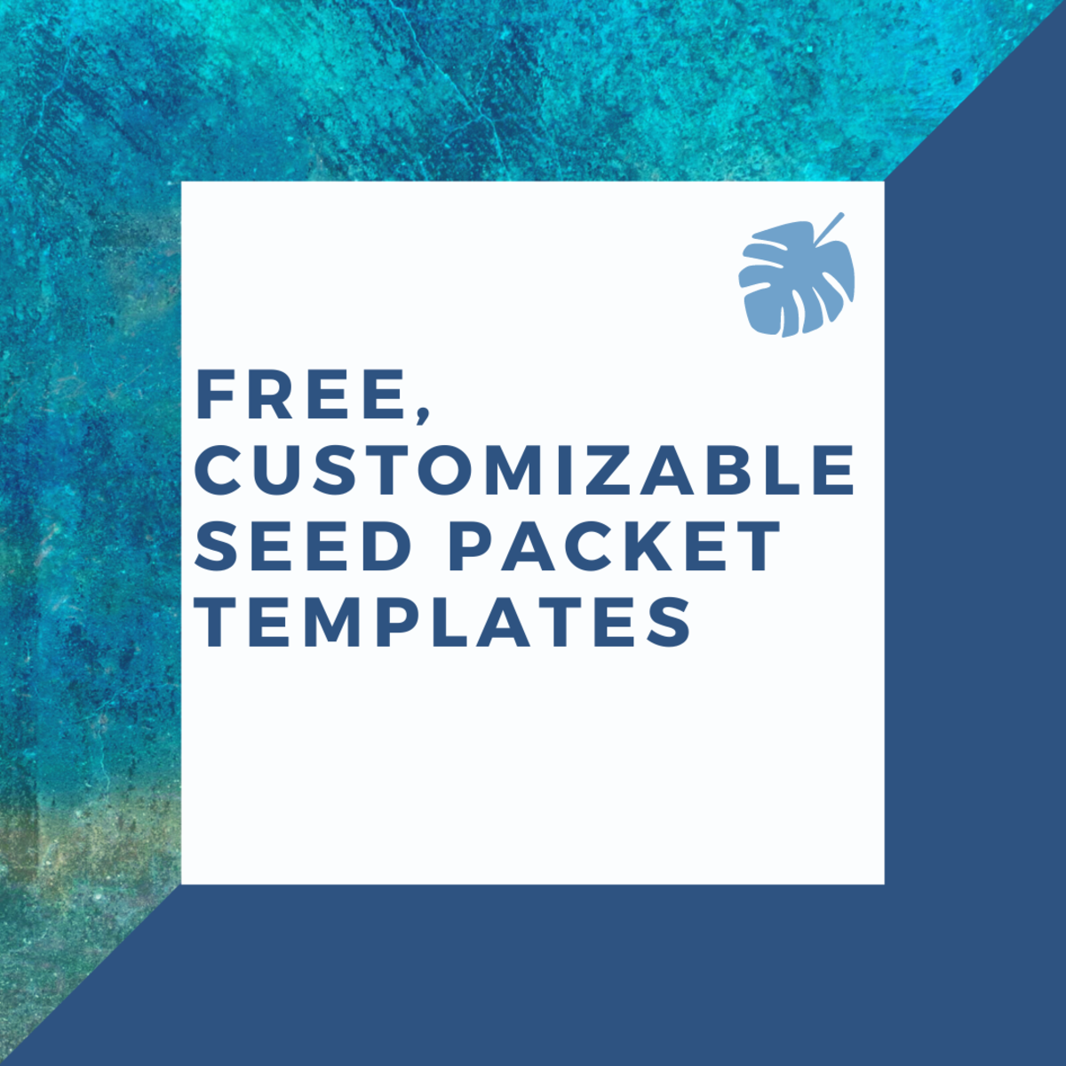 Learn about free, easy-to-customize templates for making seed packets