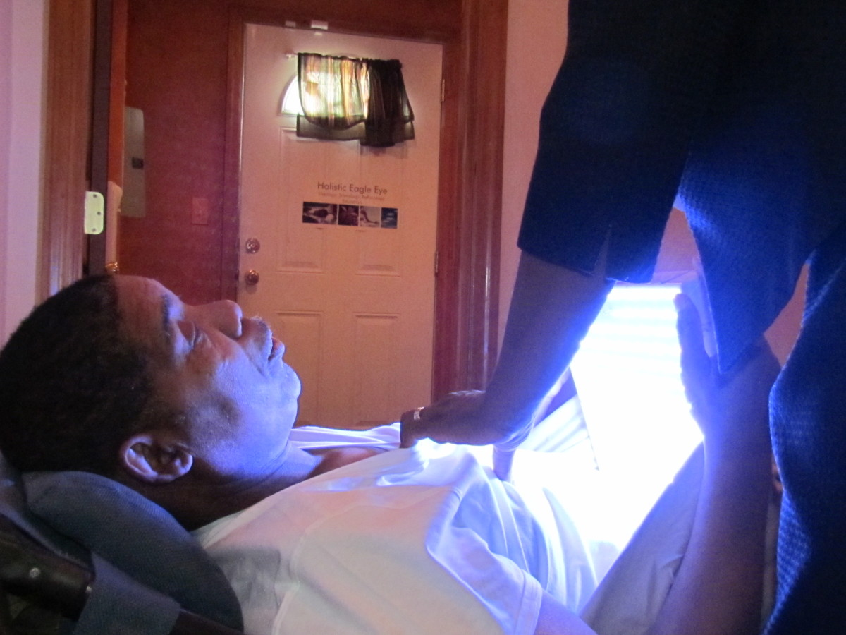 Various lights are used during light therapy and facial analogy.