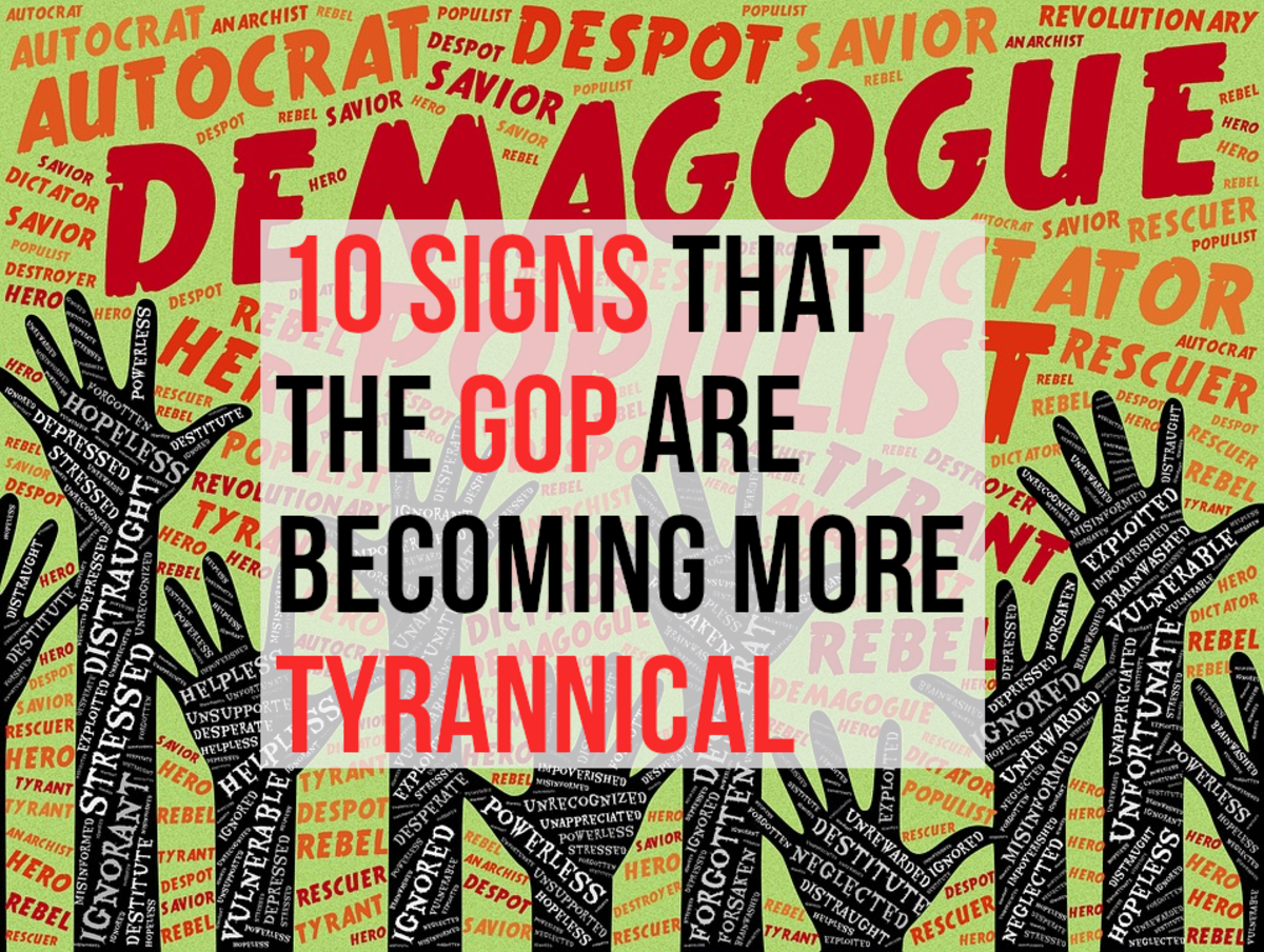 For my list of the 10 ways in which I believe that the GOP are becoming more authoritarian, please read on...