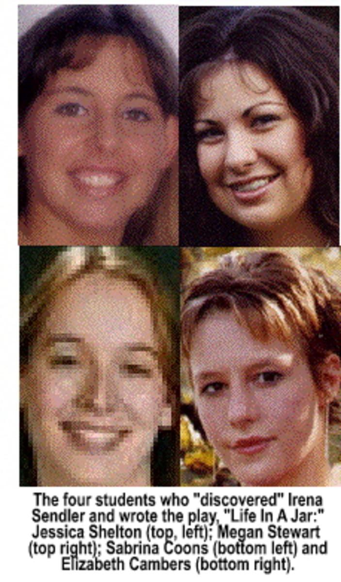 Students (top L-R) Jessica Shelton, Megan Stewart,  (Bottom L-R)Sabrina Coons, Elizabeth Cambers