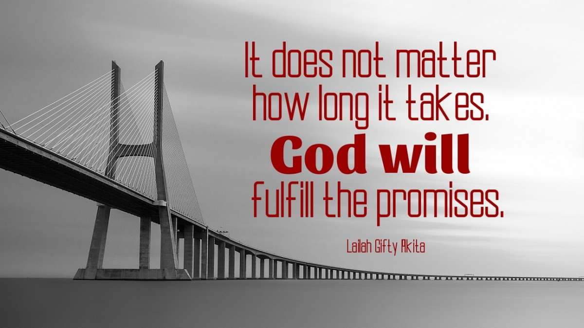 God will fulfill the promises.