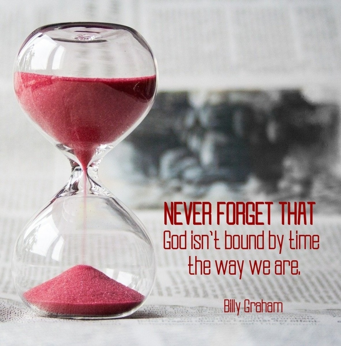 God isn't bound by time the way we are.
