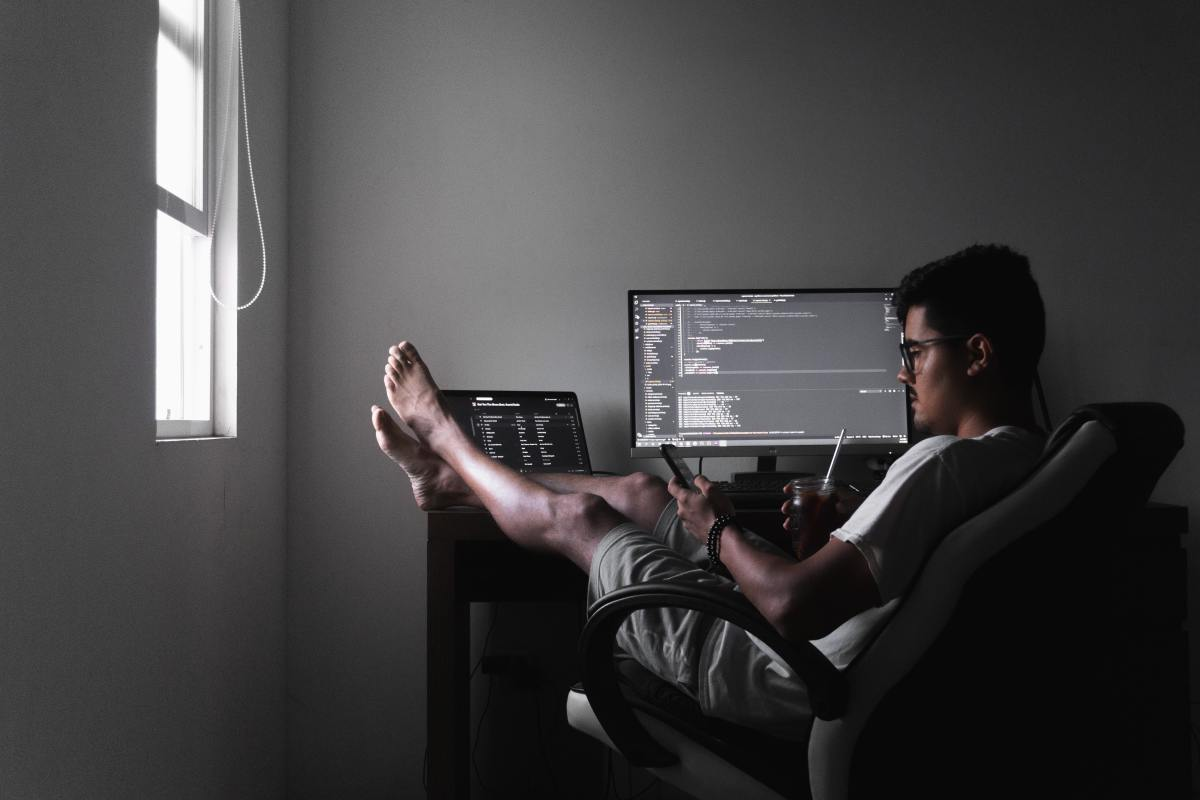 Foot placement is an undervalued part of sitting properly when working at a desk.