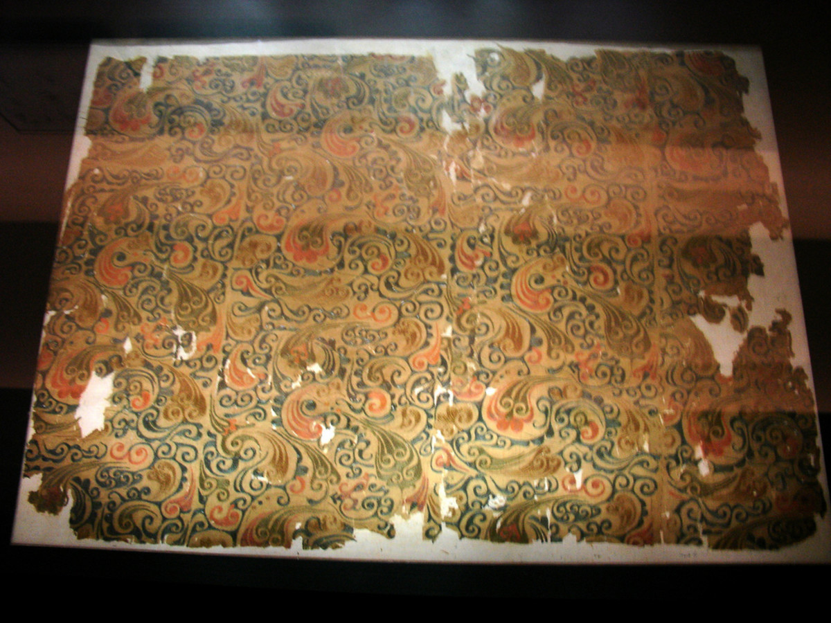 Woven silk textile from a tomb no 1. at Mawangdui in Changsha, Hunan province, China, from the Western Han dynasty