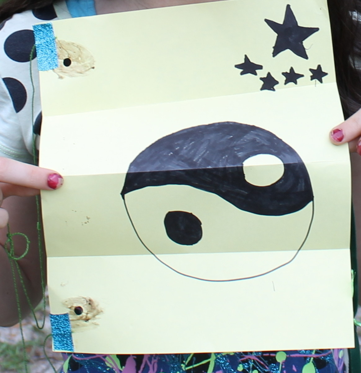 A kite create by an elementary-aged child