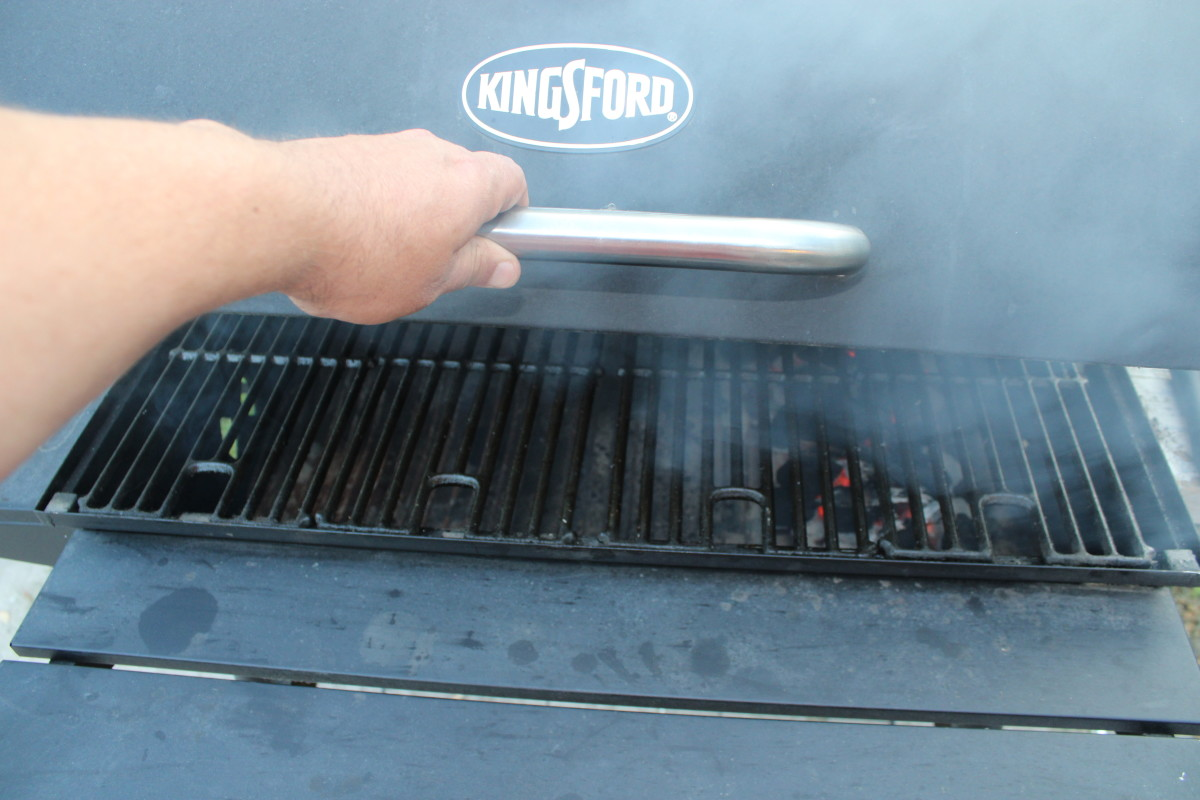 Lift the grill cover for a second or two to cool the temperature down.