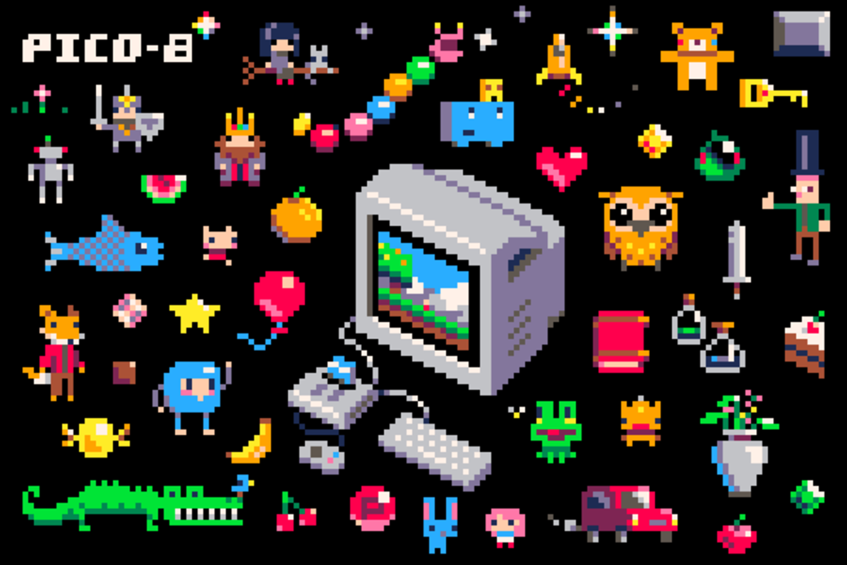 I used Pico-8 to make my game. Pico-8 is a fantasy console, emulating the experience of making games on older computers.