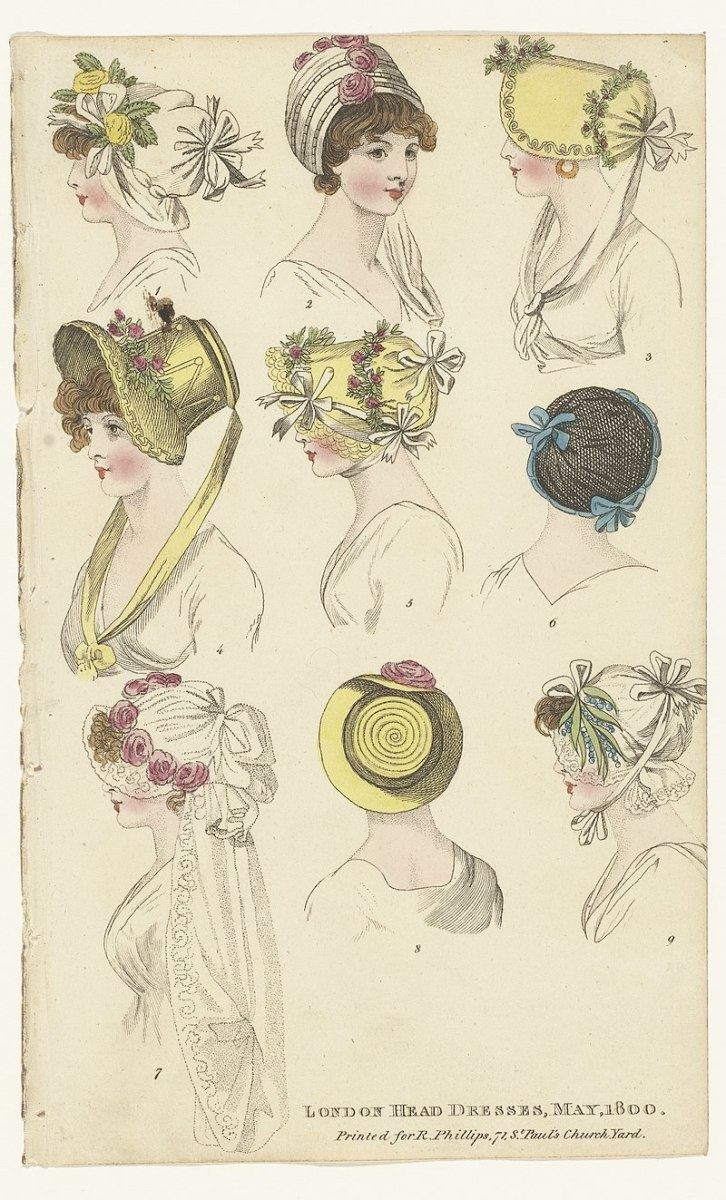 Women's hats circa 1800