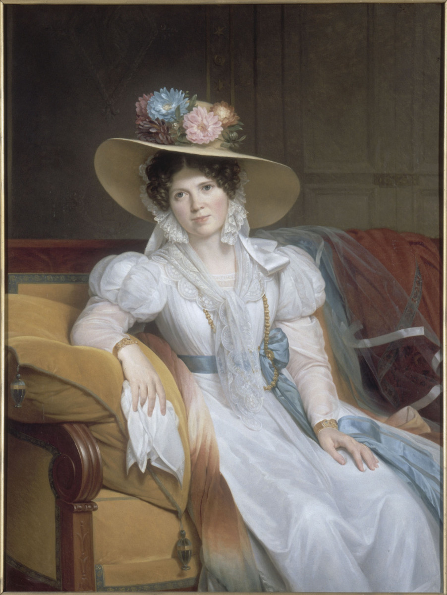 1831 Large garden hat with flowers