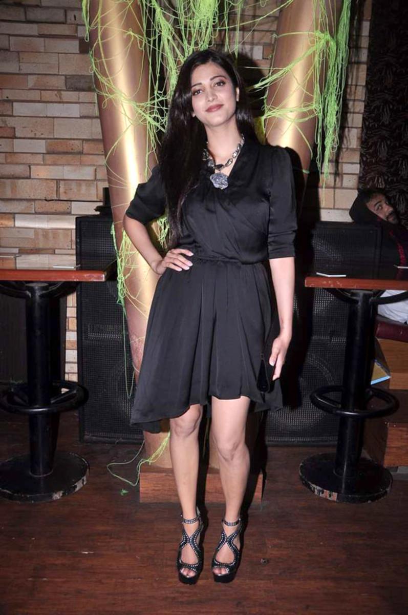Shruti Haasan at MTV's show 'Rush' press meet, Bollywood Hungama. [CC-BY-3.0]