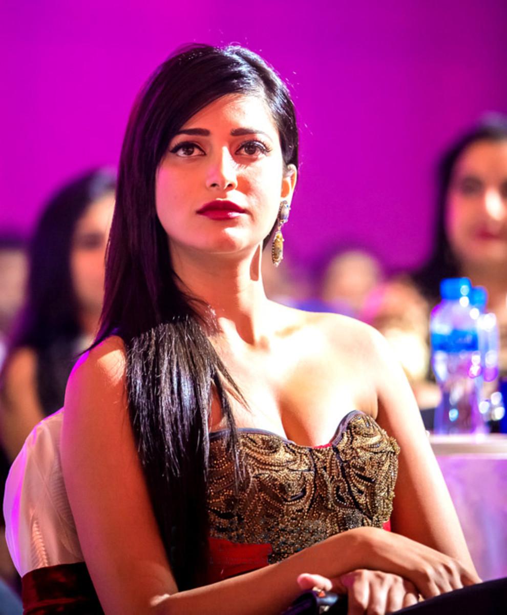 Shruti Haasan at South Indian International Movie Awards 2013, Bollywood Hungama. [CC-BY-3.0]