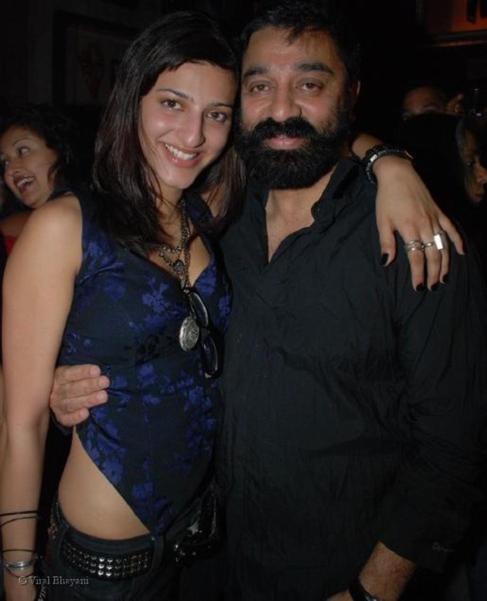 Shruti Haasan with Kamal Haasan