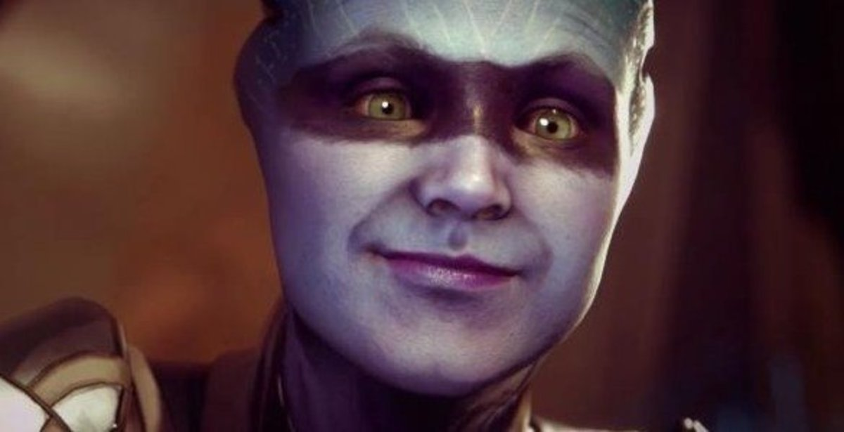 Peebee's original face from the first reveal.   (Shudder)