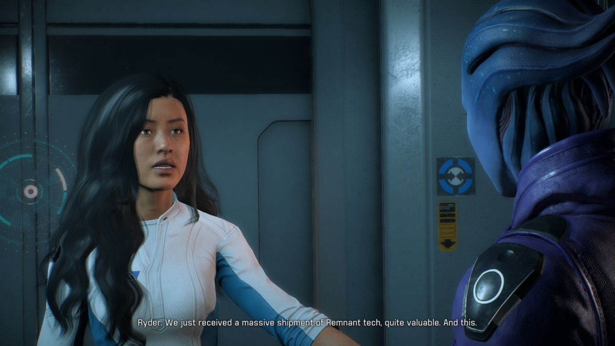 My Ryder talks to Peebee after her loyalty mission.
