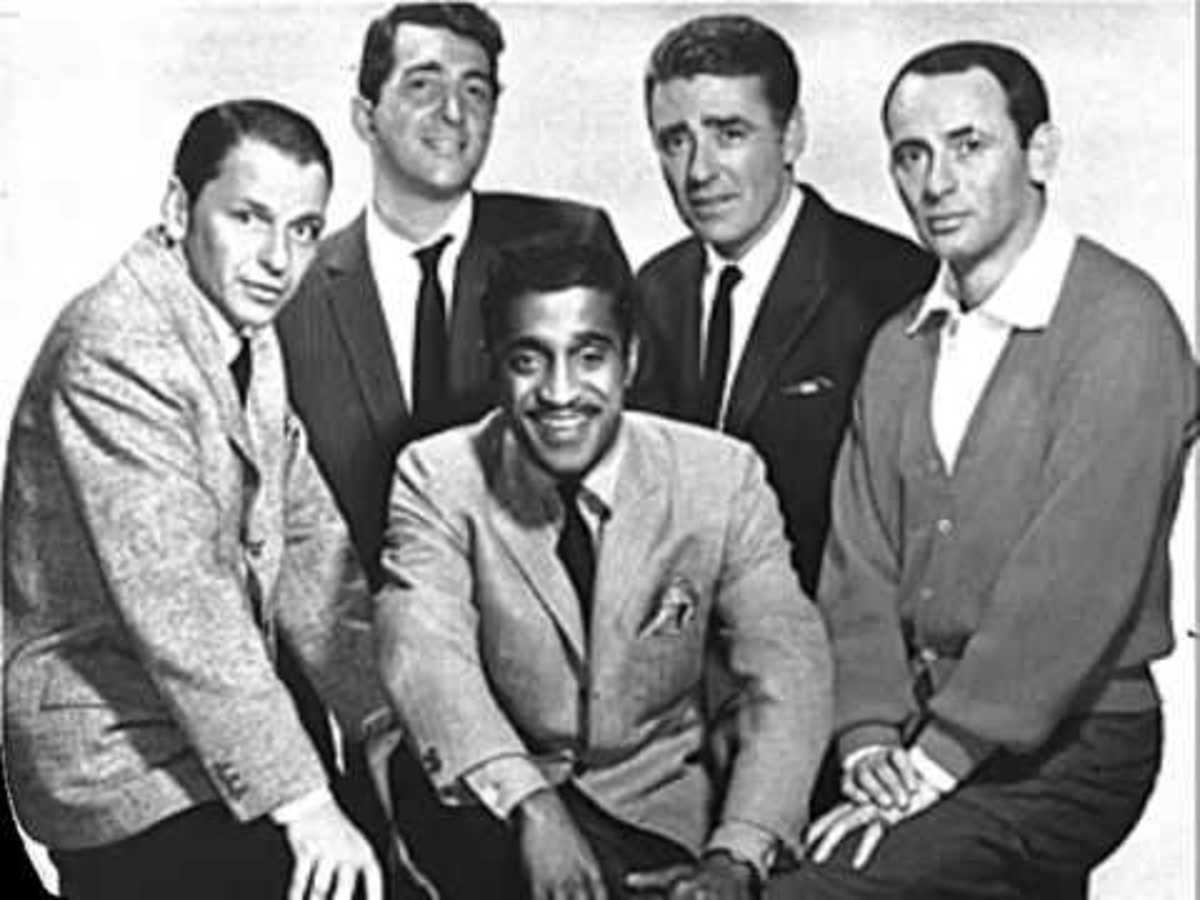 The Rat Pack - Frank Sinatra, Dean Martin, Sammy Davis Jr., Peter Lawford and Joey Bishop