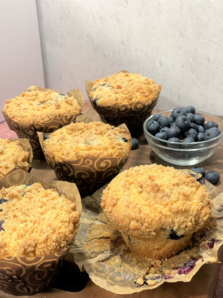 My husband couldn't wait for the muffins to cool completely, and he stole one to try it immediately! They were so delicious.