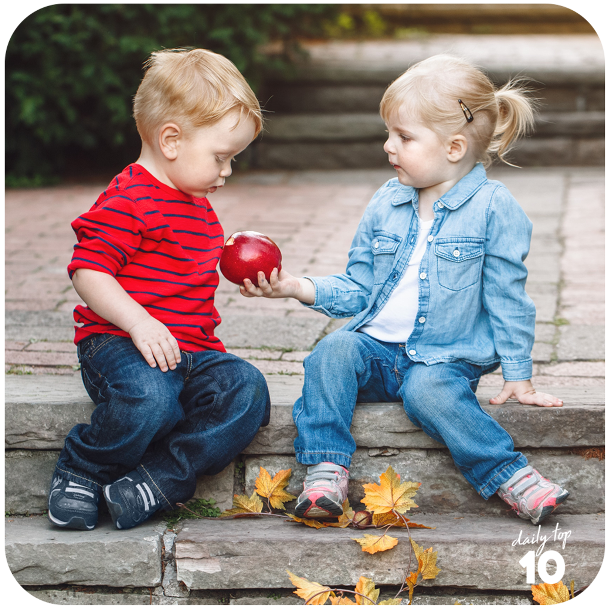 Share an apple and make a friend.