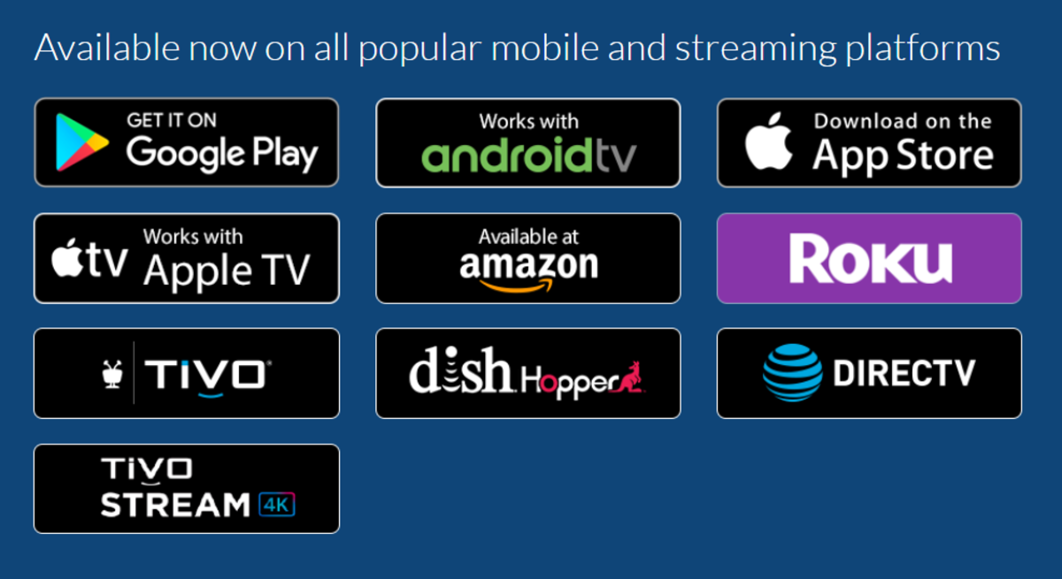 The Locast app is available on several devices