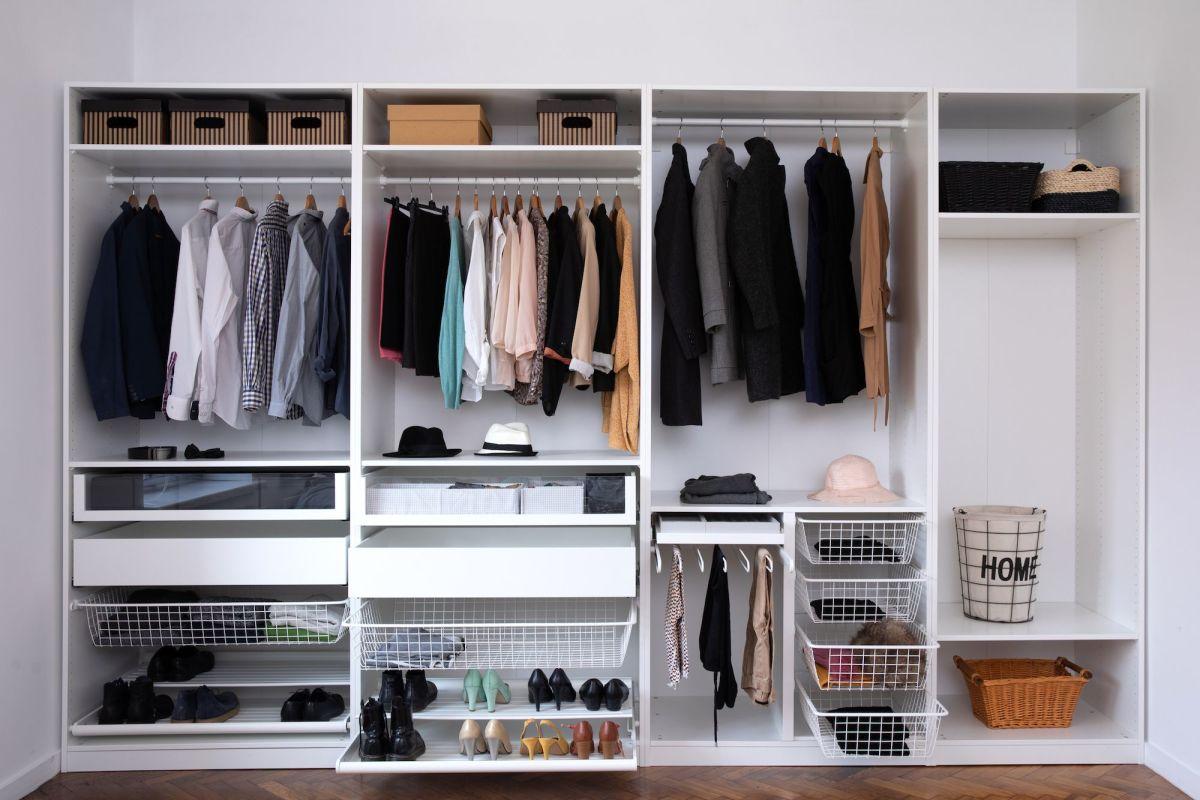 Tidy wardrobe.