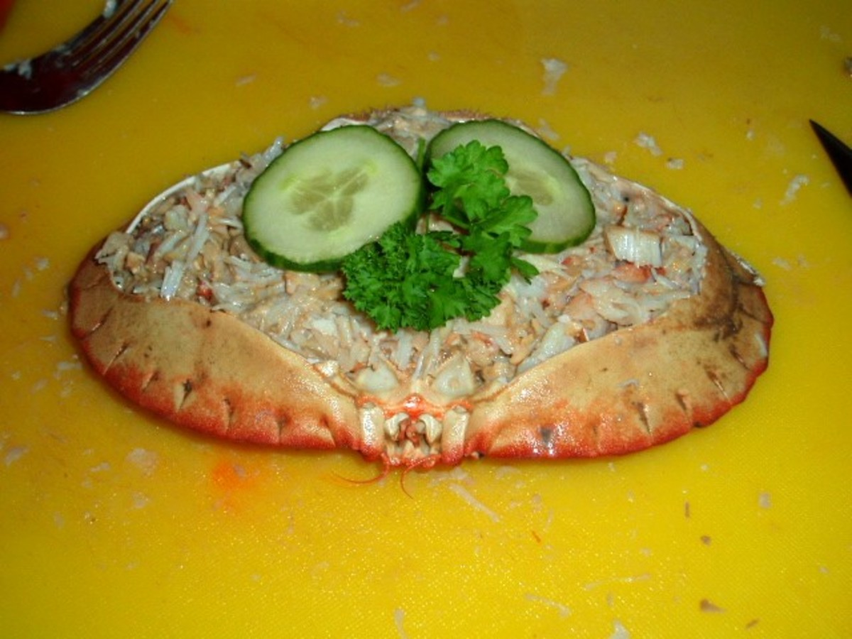 your finished dressed crab.