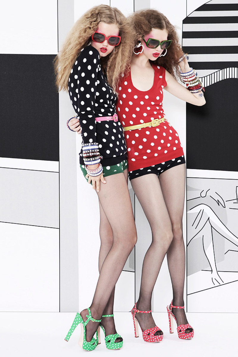 From shoes to sweaters, Prada's Miu Miu Resort 2011 collection has gone completely dotty!