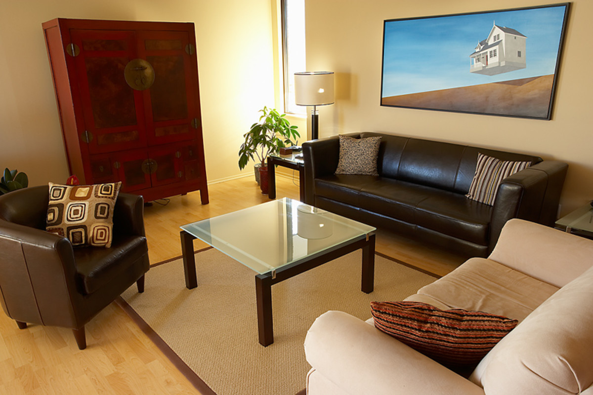 Find a focal point for each room when you are staging your home for sale.