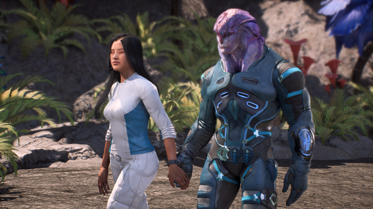 My Ryder walks with Jaal during his romance.