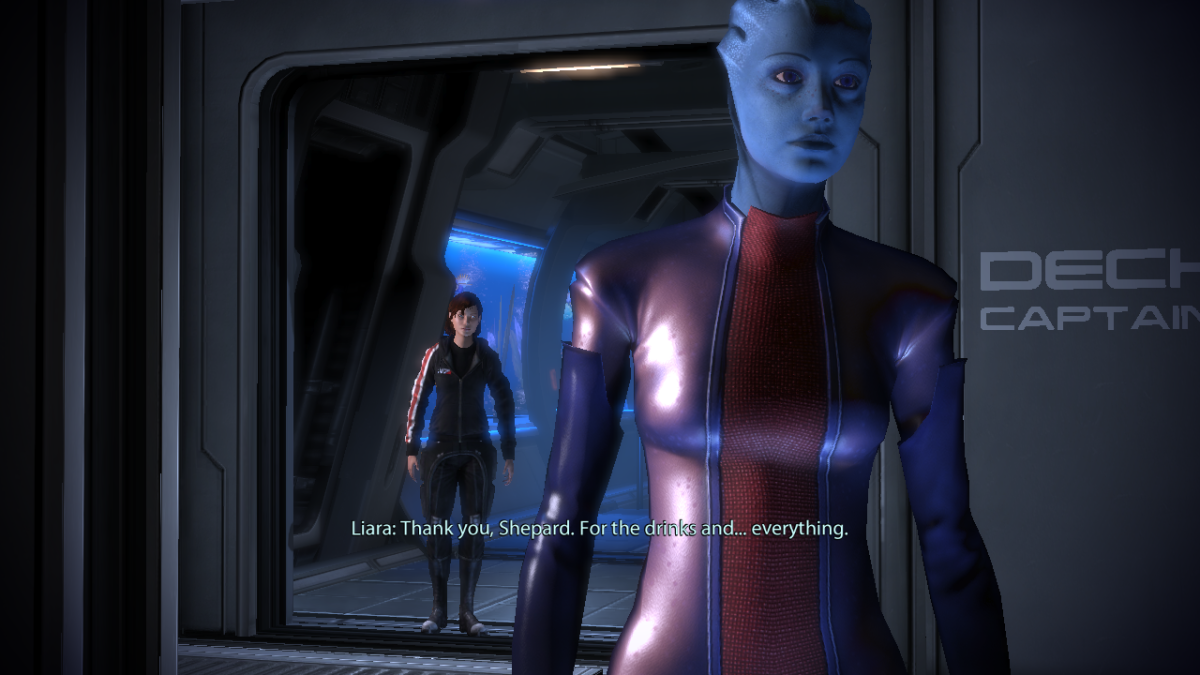 Liara says goodbye to Shepard.