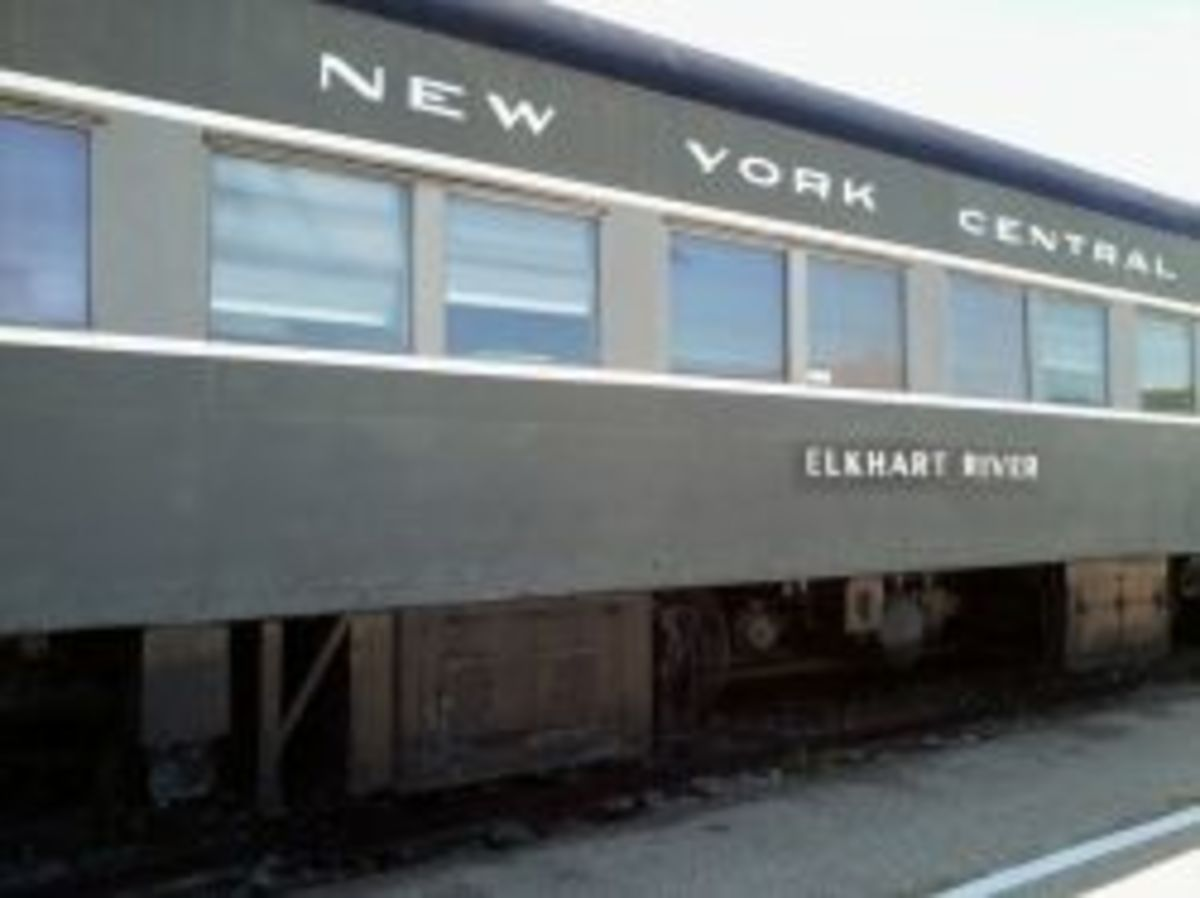 Train car part of the New York Central Train Museum