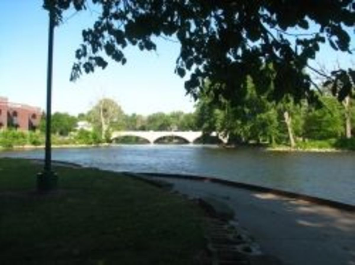 Main Street Bridge from Island Park