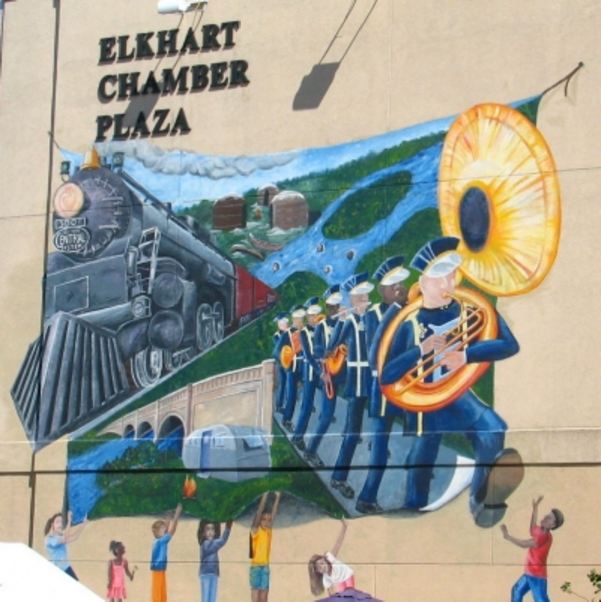 Elkhart Mural Features City History