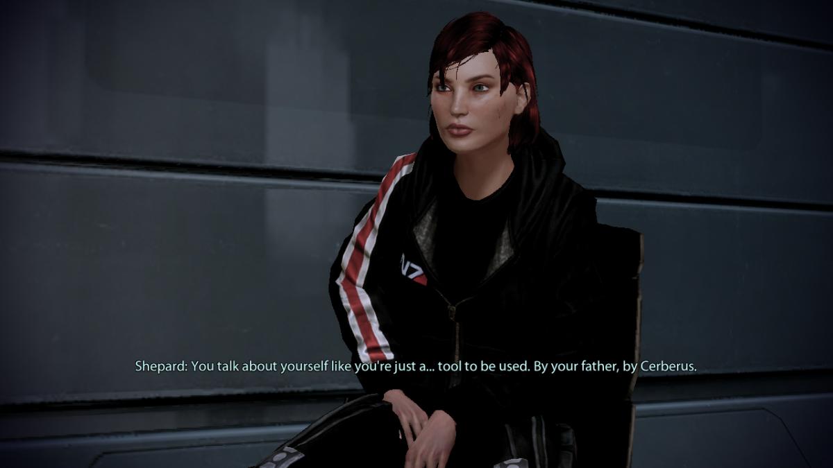 My Shepard tells Miranda she's not an object.